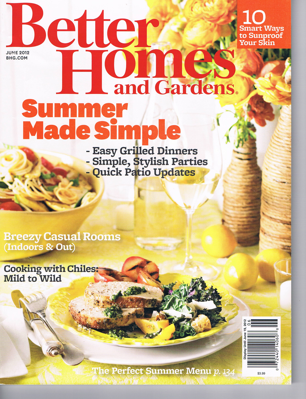 Better Homes Cover - June 2012