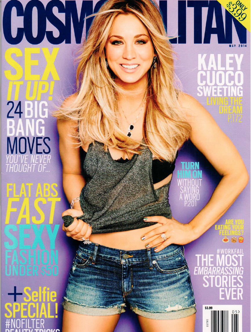 Cosmopolitan Cover with Kaley Cuoco S'well Bottle