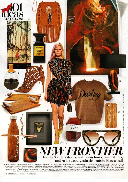 Marie Claire New Frontier S'well Bottle Teakwood