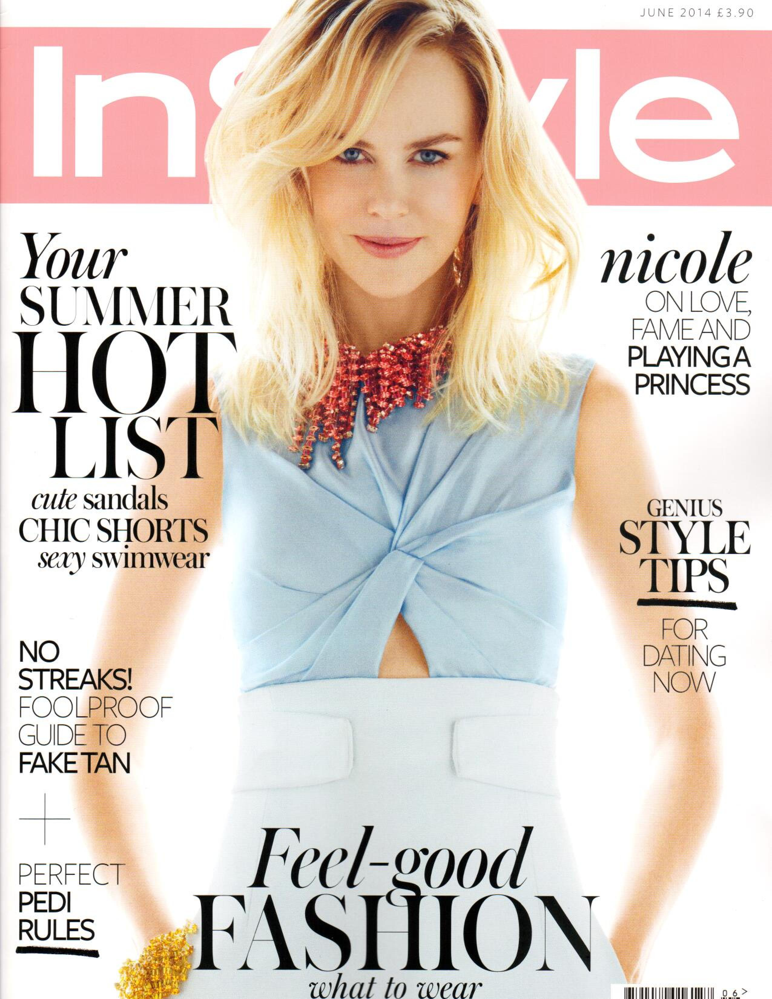InStyle Cover June 2014 S'well Bottle Press Page