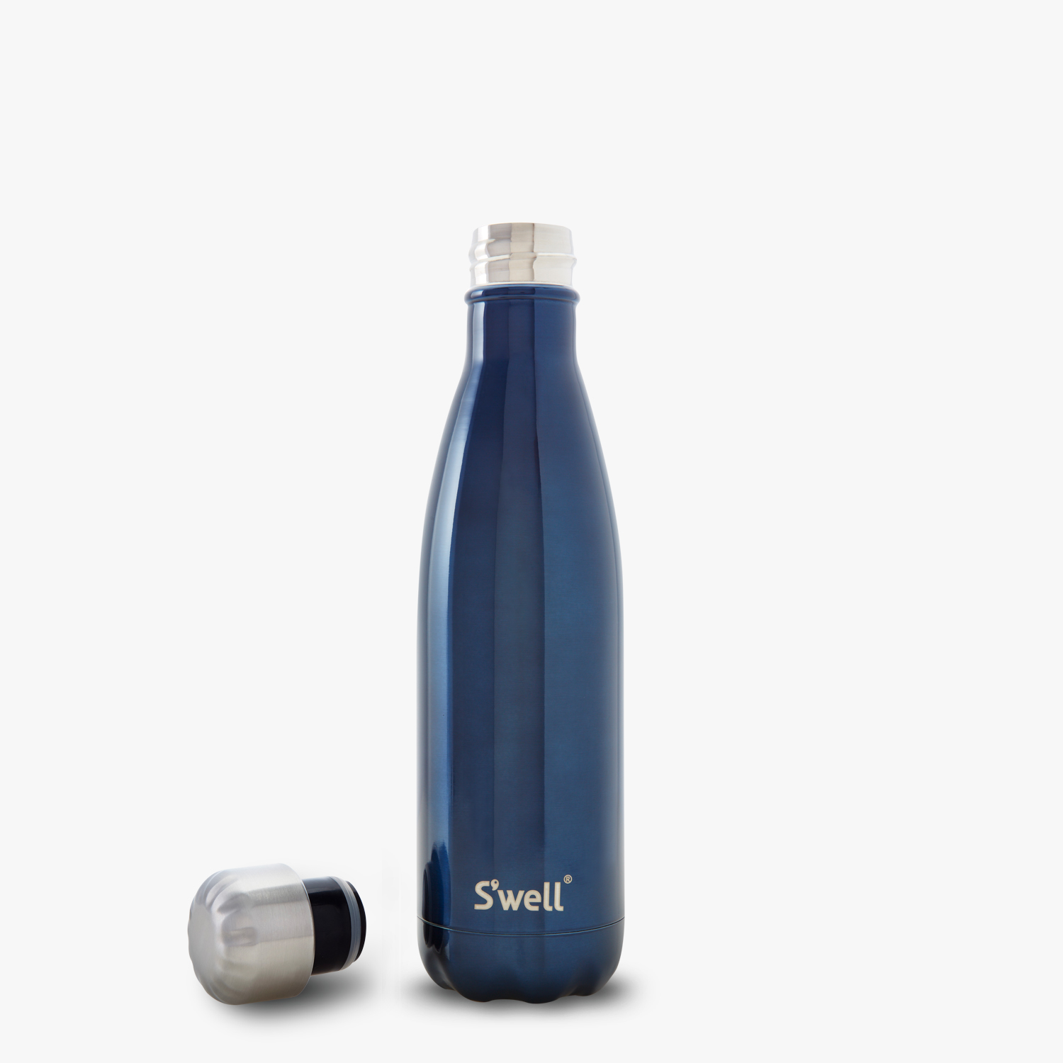 S Well 174 Official S Well Bottle Blue Suede Navy Stainless Steel Bottle S Well Bottle