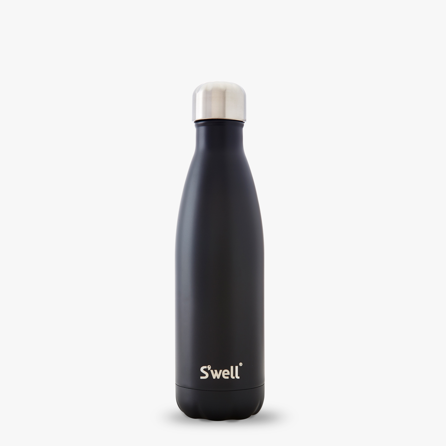 17ozLondon Chimney matte black water bottle