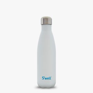 Moonstone white unique sporty gift swell insulated water bottle