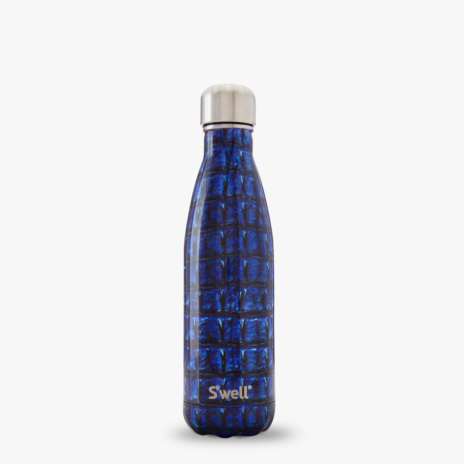 Navy Alligator animal printed flask Swell waterbottles