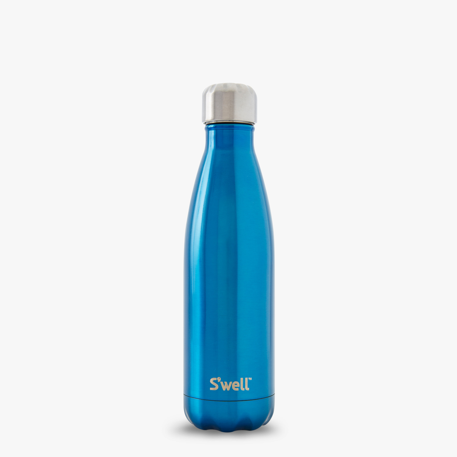 blue sporty cool water bottle insulated stainless steel