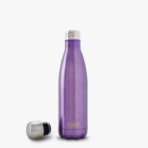 BPA water swell bottle shiny violet crush color