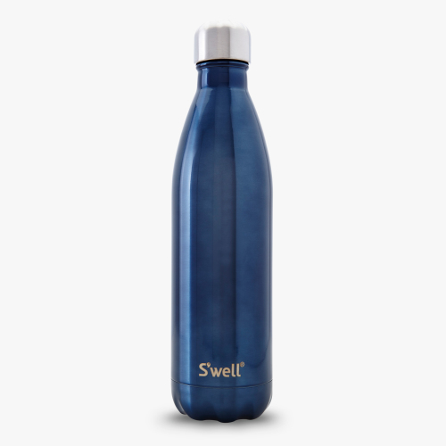 blue suede to go swell wine bottle