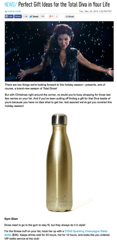 E! Perfect Gift Ideas for the Total Diva in your Life S'well Bottle Sparkling Champagne