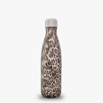 17oz_Khaki Cheetah printed water bottle