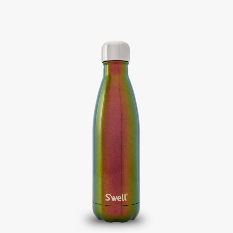 17oz_Mercury green and red iridescent water bottle