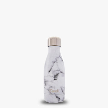 9oz Small White Marble S'well Water Bottle from the Elements Collection