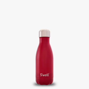 9oz Small Velvet Crimson S'well Water Bottle from the Satin Collection