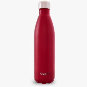 25oz Large Velvet Crimson S'well Water Bottle from the Satin Collection