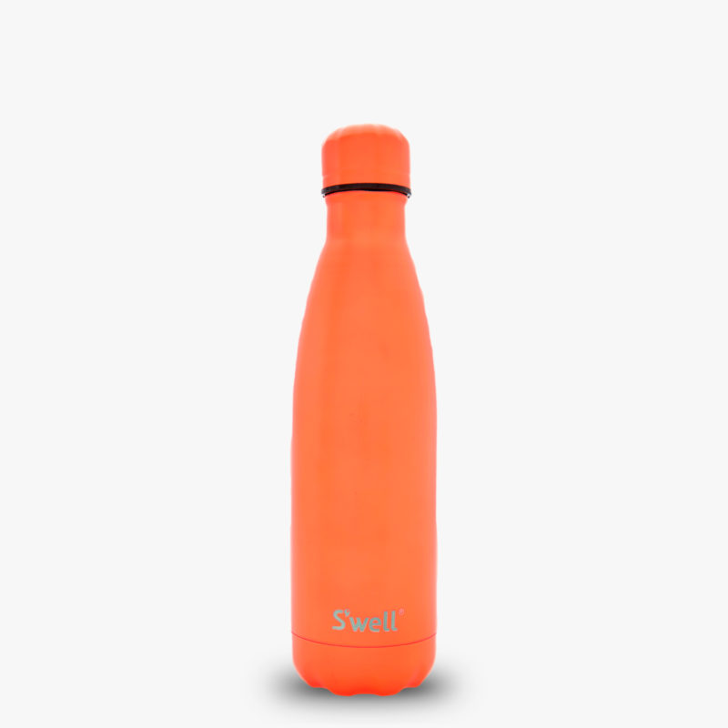 17oz Birds of Paradise Orange Insulated Stainless Steel S'well Bottle with Birds of Paradise Orange Cap