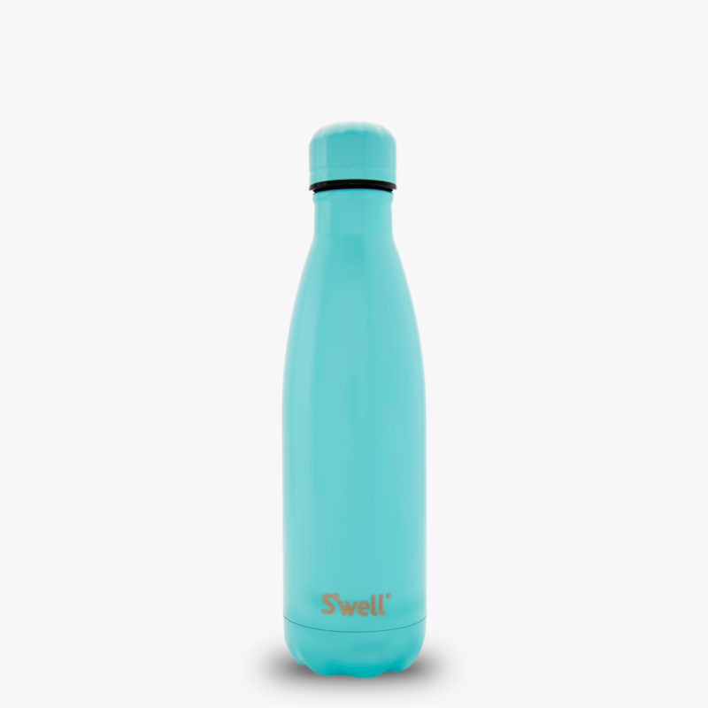 17oz Turquoise Blue Stainless Steel Water Bottle with Turquoise Blue Cap