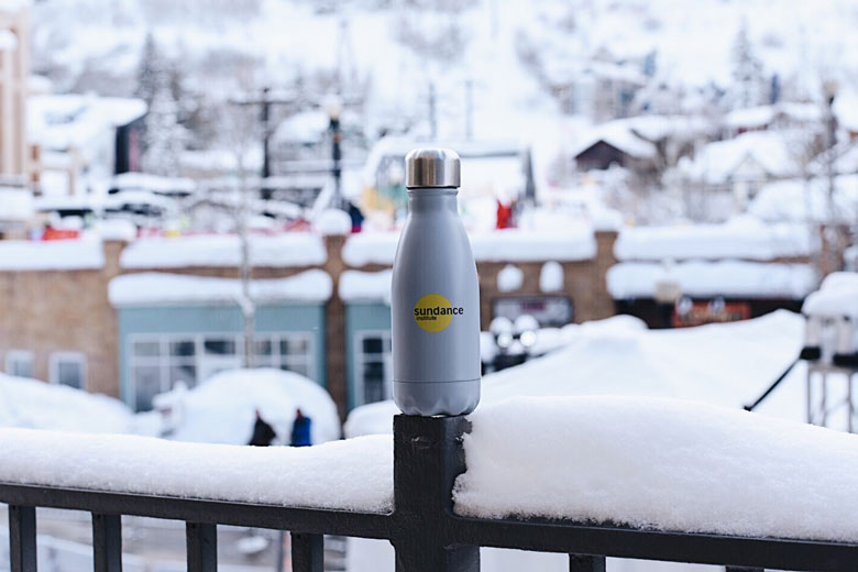 shadow s'well bottle helping with the One Million Bottle project at the 2017 Sundance Film Festival