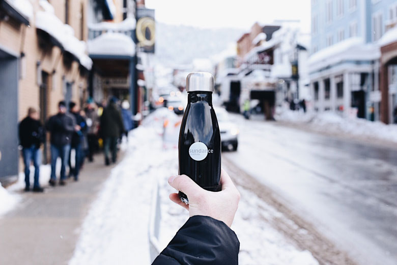 special midnight black s'well bottle in Park City, Utah