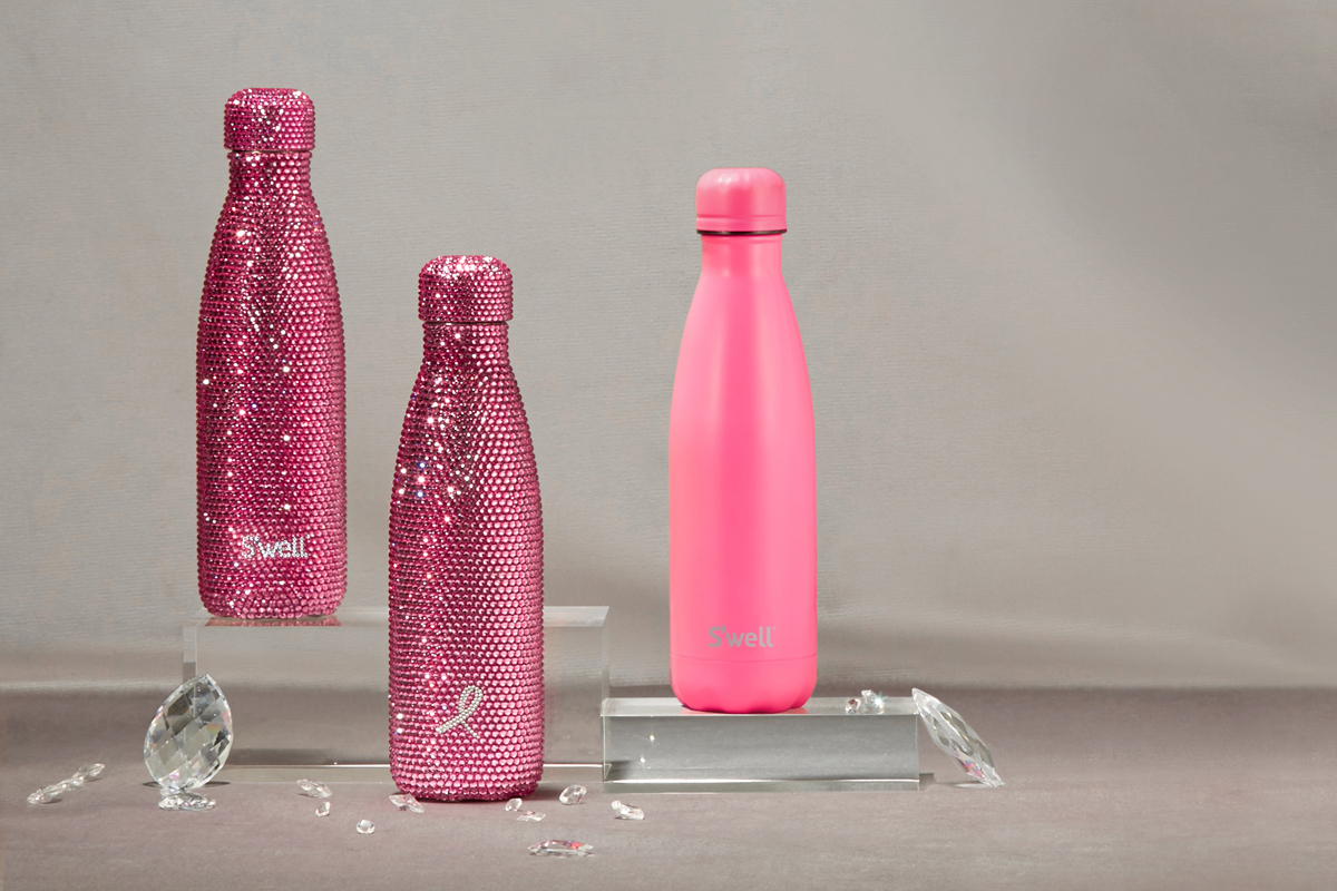 S Well Introduces Swarovski Breast Cancer Awareness Bottle