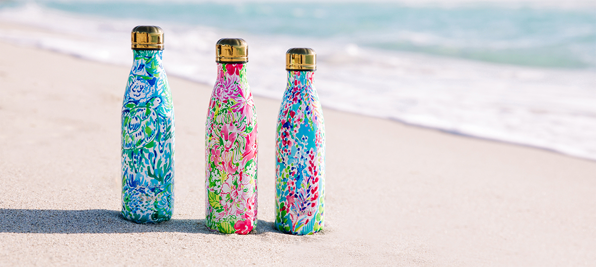 d0d94b4a07 The latest collection from Lilly Pulitzer x S'well will make its big debut  on Monday at 8:00am EST, unveiling six new prints radiating with summer  getaway ...