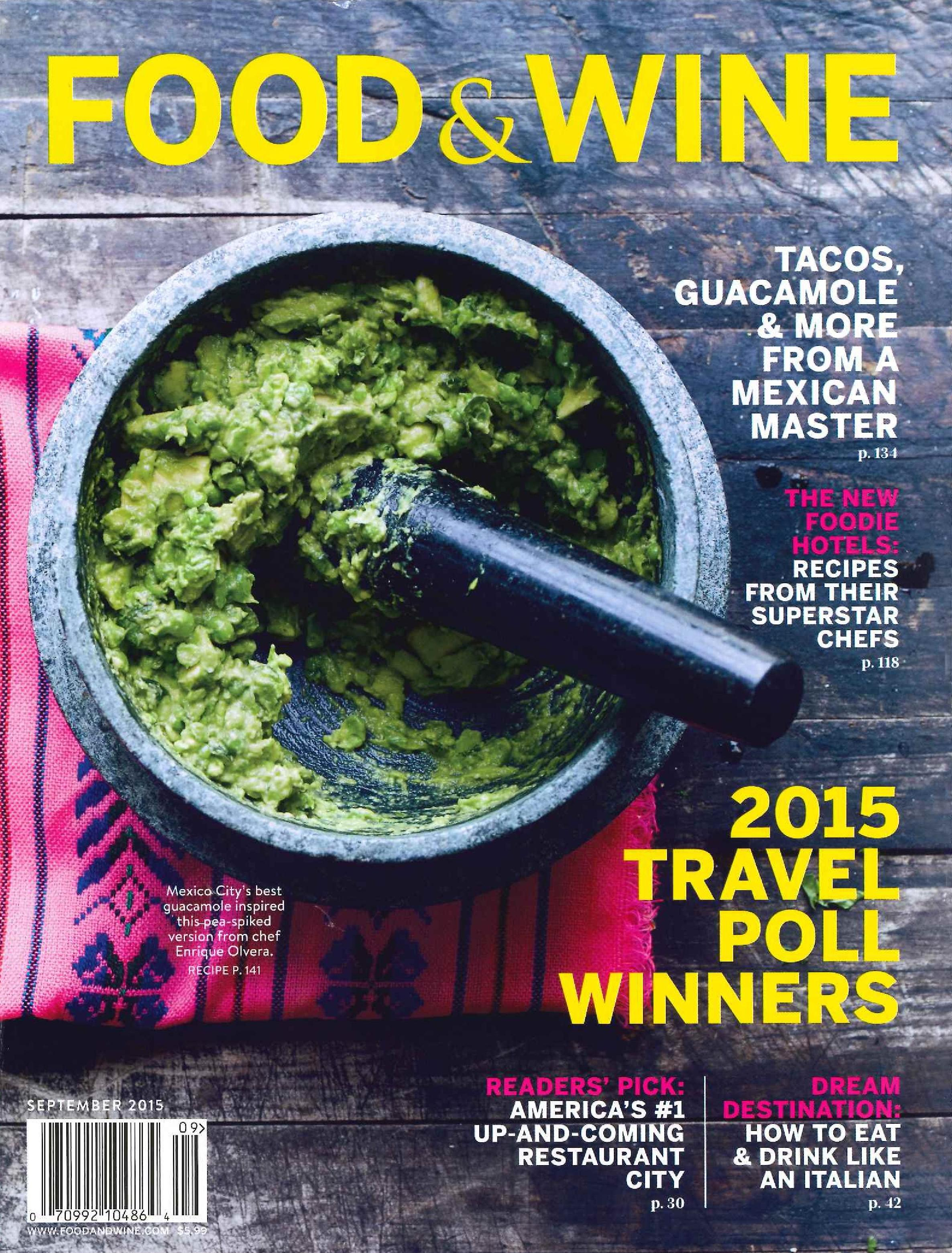 Food & Wine September 2015 - Cover