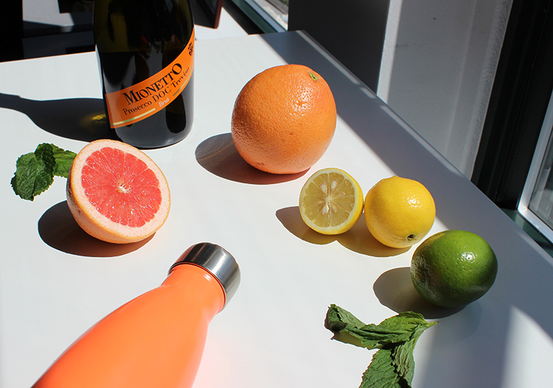 Swell summer cocktail recipe to take on-the-go in stainless steel water bottle