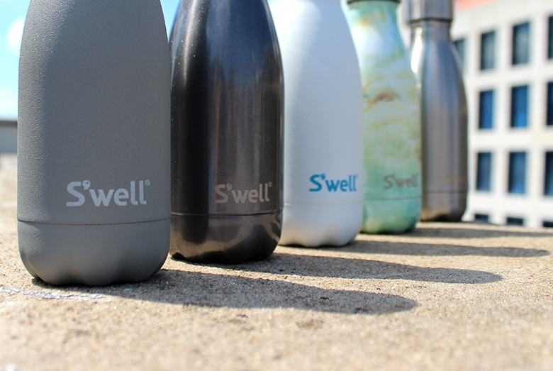 Summer weekend in the New York City with small insulated Swell water bottle