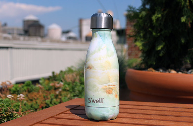 Summer activities in New York with small S'well stainless steel water bottle