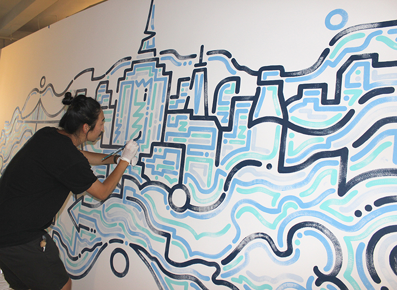 S'well interviews the artist behind their new office mural, Yoon Hyup