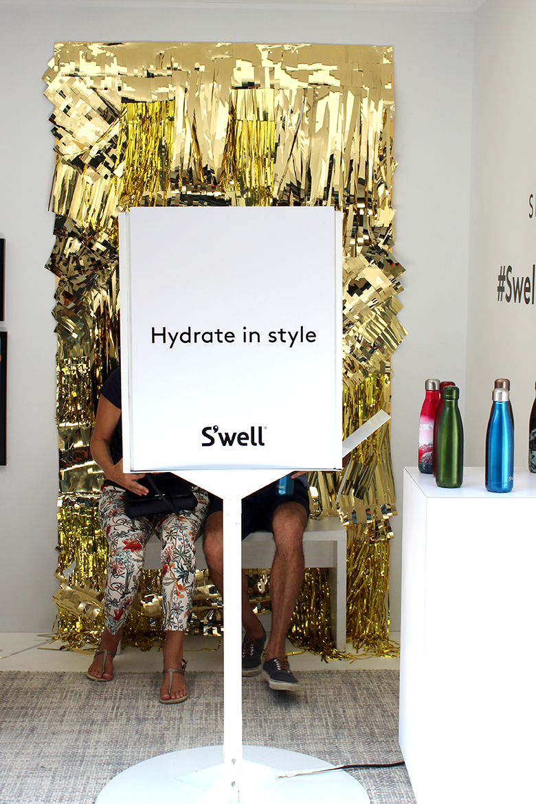 S'well hosts NYFW Pop-Up Shop in Meatpacking District including a photo booth