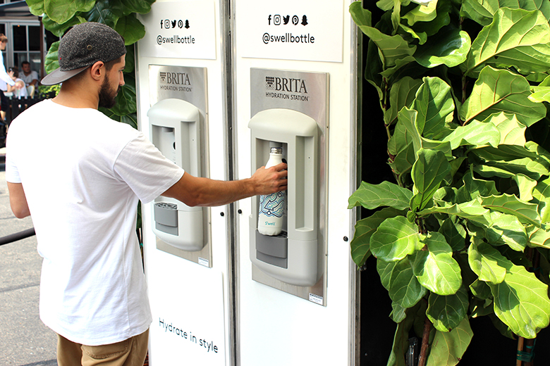 S'well water bottle host NYFW Pop-Up Shop including hydration stations for patrons in the Meatpacking District