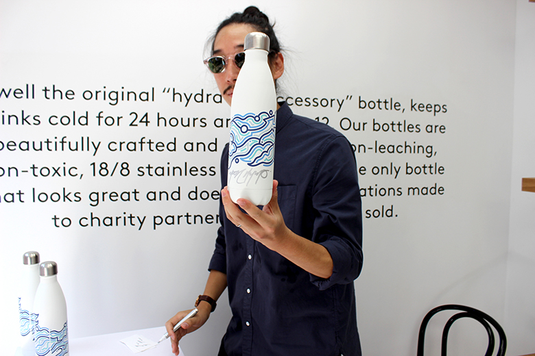 S'well water bottle hosts a New York Fashion Week Pop-Up Shop featuring new stainless steel bottle designed by Artist Yoon Hyup