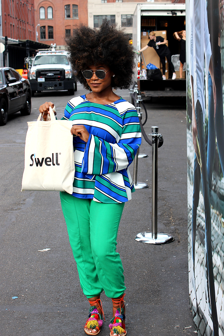 S'well water bottle shows off the best of the street style at its NYFW Pop-Up Shop