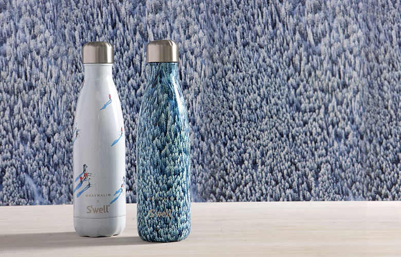 S'well water bottles partners up with photographer Gray Malin for a limited edition winter collection